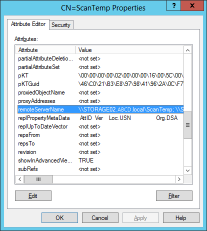 DFS: Properties cannot be set on the namespace server - Access is denied