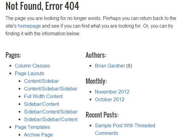 How To Hide Pages from the 404 Page in a Genesis Wordpress